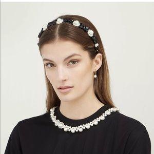 Simone Rocha Daisy Faux Pearl Beaded Headband
